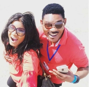 Sweet Mama: Omotola Shows Off Her Curves in Waist Trainer (Photo)
